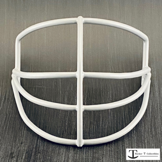 "Throwback ""Riddell-Style"" NJOP Metal Mini Helmet Facemask"