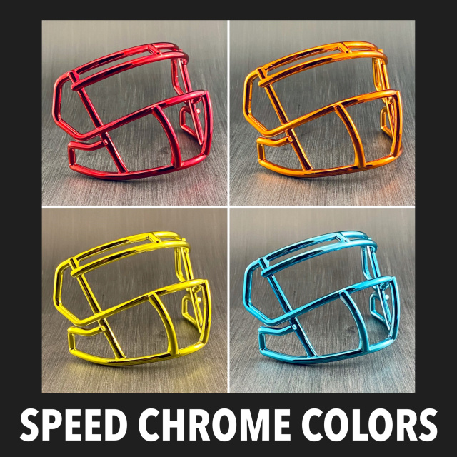 Riddell Speed S2BD Plastic Mini Helmet Facemask(Chrome Colors)