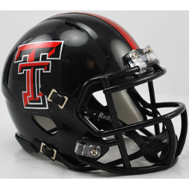 Riddell Texas Tech Red Raiders Chrome Logo Revo Speed Mini Helmet