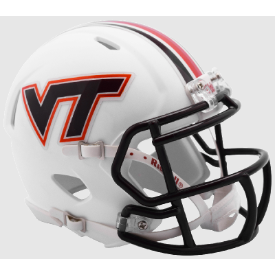 Riddell Virginia Tech Hokies Matte White Speed Mini Helmet