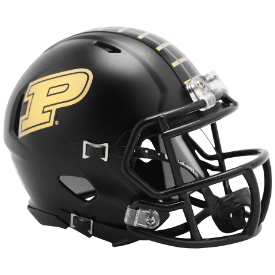 Riddell Purdue Boilermakers 2019 Black Anodized Speed Mini Helmet