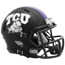 Riddell TCU Horned Frogs 2019 Matte Black Speed Mini Helmet