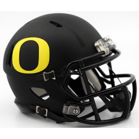Riddell Oregon Ducks Matte Black Speed Mini Helmet