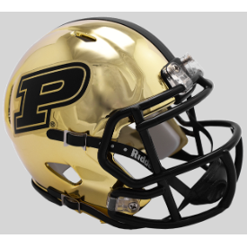 Riddell Purdue Boilermakers Chrome Gold Speed Mini Helmet
