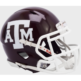 Riddell Texas A&M Aggies Matte Maroon Revo Speed Mini Helmet