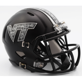 Riddell Virginia Tech Hokies Matte Black Speed Mini Helmet