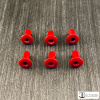Rocker T Custom Cardinal Red Jaw Pad Area Rivets Package