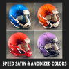 Riddell Speed Satin & Anodized Colors Mini Helmet Shells