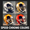 Riddell Speed Chrome Colors Mini Helmet Shells