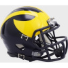 Riddell Michigan Wolverines Satin Navy Blue Speed Mini Helmet