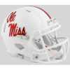 Riddell Mississippi Ole Miss Rebels White Speed Mini Helmet