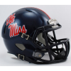 Riddell Mississippi Ole Miss Rebels Navy Blue Speed Mini Helmet